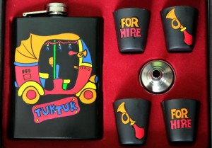 Hip Flask with Shot Glasses - Tuk Tuk