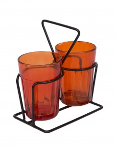 Tapri Glasses - Rang Barse - Set of 2 ( Orange )