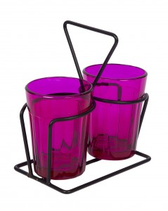 Tapri Glasses - Rang Barse - Set of 2  ( Purple )