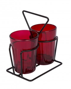 Tapri Glasses - Rang Barse - Set of 2  ( Red )