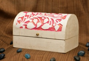 Jewellery Box-Leaf Pink