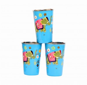 Steel Tumbler Big-ELEPHANT Star-Blue ( set of 3 )