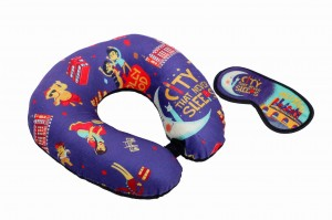Neck Pillow & Eye Mask Combo - Mumbai Meri Jaan