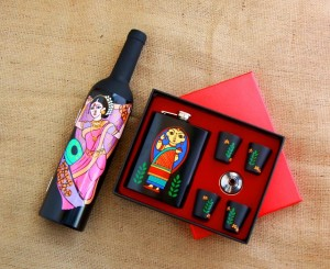 Bar Tools & Hip Flask with Shot Glasses - Lavani & Babushka