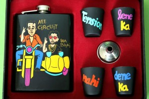 Hip Flask with Shot Glasses - Munna Bhai