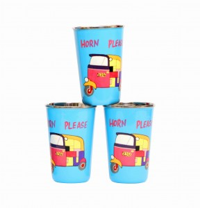 Steel Tumbler Big-Auto Blue ( set of 3 )
