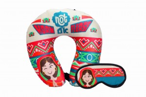 Neck Pillow & Eye Mask Combo -  Horn Not Ok Please