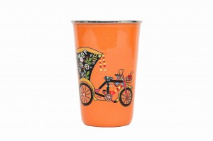Stainless Steel Tumbler Big - Cycle Rickshaw Orange