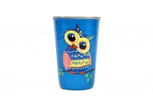 Stainless Steel Tumbler - Owl Cute Blue