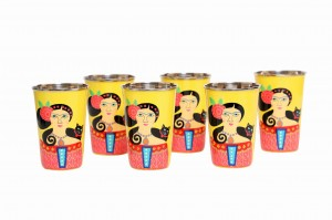 Steel Tumbler Big-Lady Set Yellow ( set of 6 )