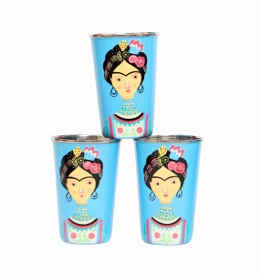 Steel Tumbler Big-Lady Rose Blue ( set of 3 )