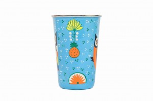 Stainless Steel Tumbler Big -  Owl Feather Blue
