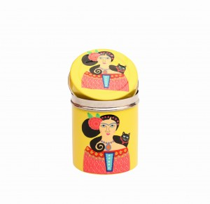 Steel Canister-Lady Set Yellow