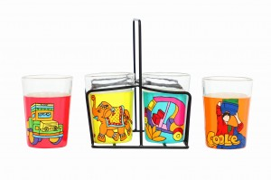 Tapri Glasses - Lotus,Nimbu Mirchi,Truck Theme,Coole