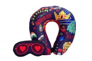 Neck Pillow & Eye Mask Combo - India To Abroad